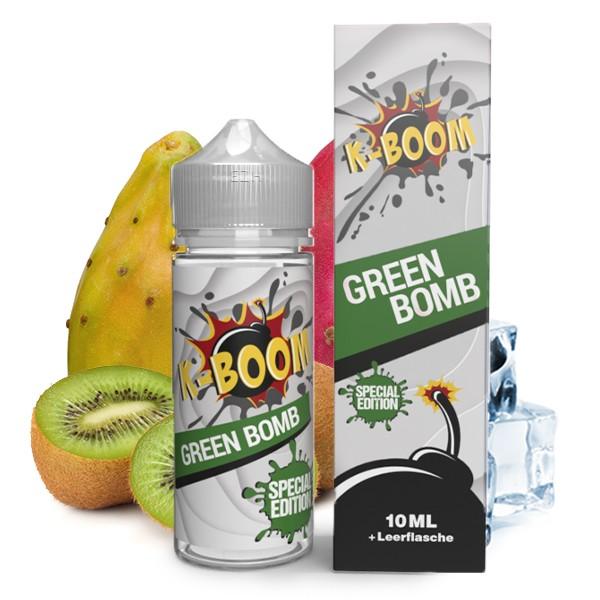 Green Bomb 2020 - K-Boom - 10ml Aroma in 120ml Leerflasche