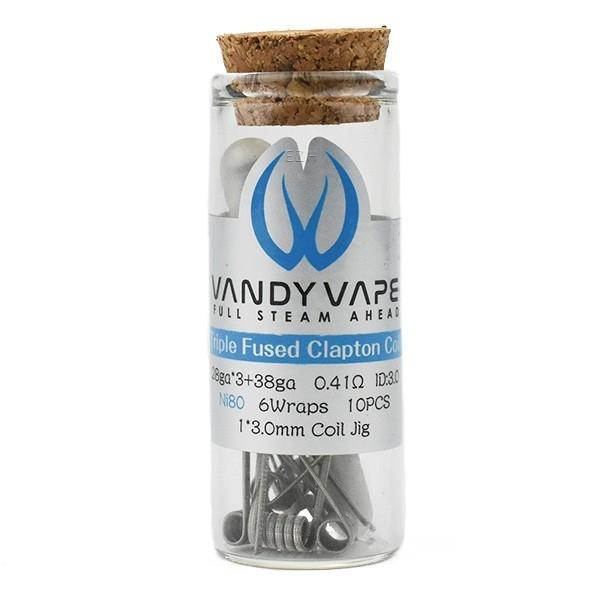 Vandy Vape Prebuilt Ni80 Triple Fused Clapton Coil 0,41 Ohm - P4