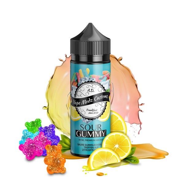 Sour Gummy - Vape Modz Customs - 30ml Aroma in 120ml Flasche