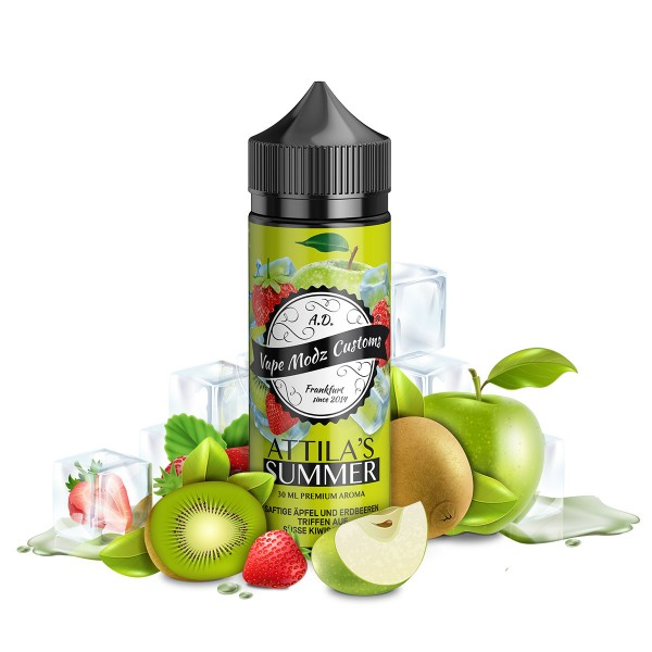Attila's Summer - Vape Modz Customs - 30ml Aroma in 120ml Flasche