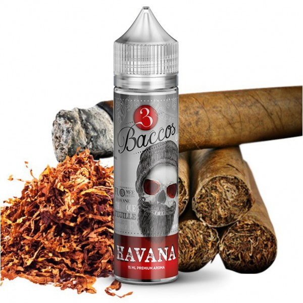 Havanaa - 3 Baccos by PGVG - 15ml Aroma in 60ml Flasche