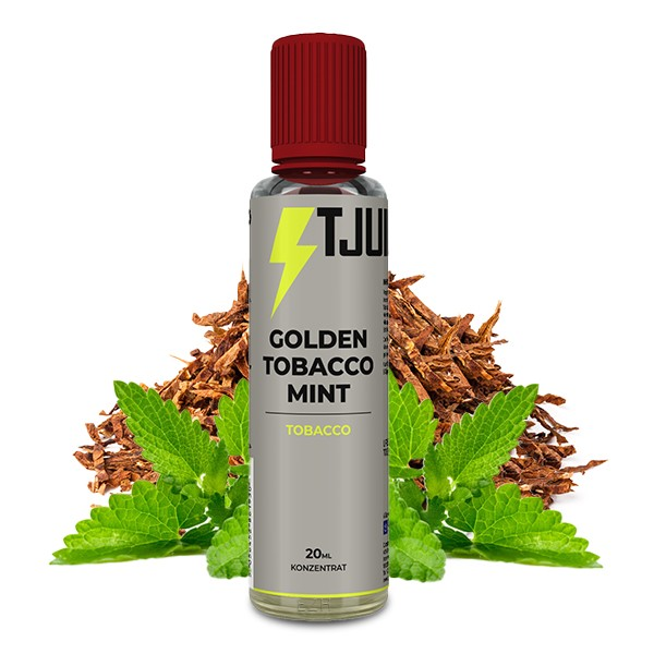 Golden Tobacco Mint - T-Juice - 20ml Aroma in 60ml Flasche
