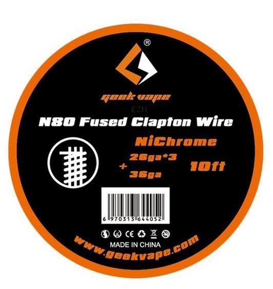 GeekVape Wickeldraht Fused Clapton Ni80 auf Spule - 10ft