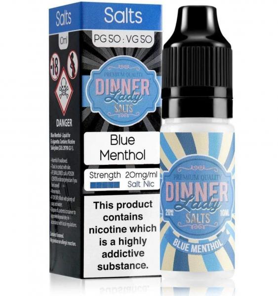Blue Menthol - Dinner Lady - Salt Nic Liquid - 10ml - 20mg