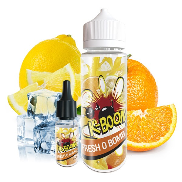 Fresh O Bomb - K-Boom - 10ml Aroma in 120ml Leerflasche