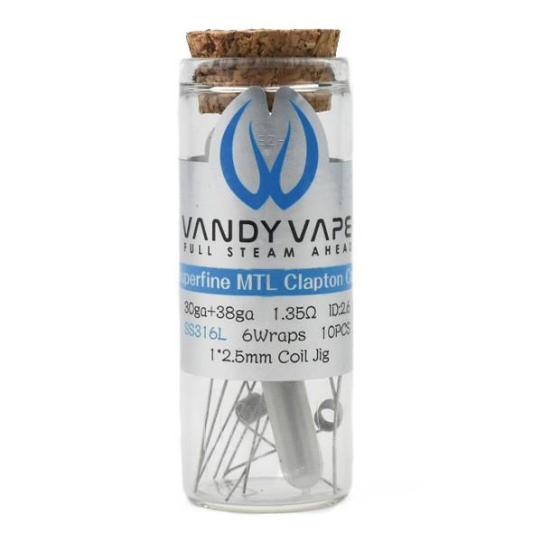 Vandy Vape Prebuilt SS316L Superfine MTL Fused Clapton Coil 1,35 Ohm - P9