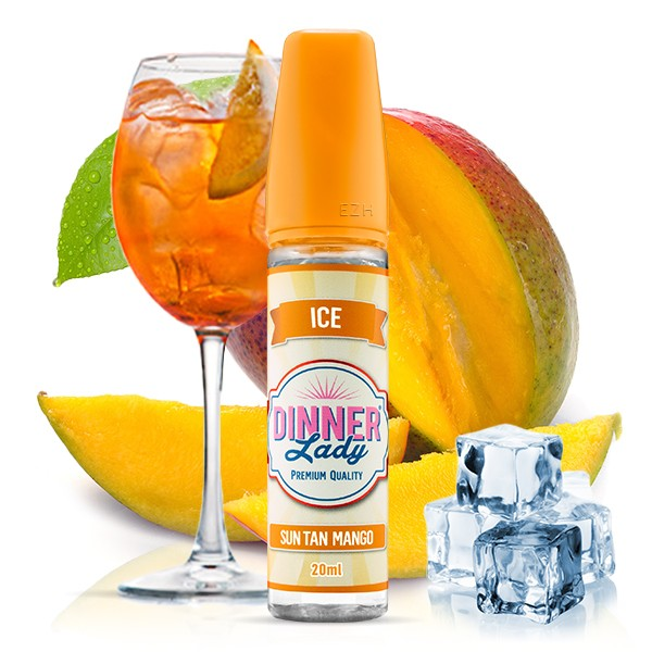 Sun Tan Mango ICE - Dinner Lady - Longfill Aroma - 20ml Aroma in 60ml Flasche