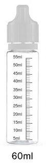 Liquidflasche leer - 60 ml mit Skala - PET (hart) - transparent