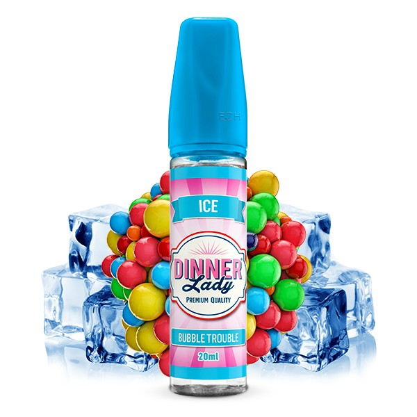 Bubble Trouble ICE - Dinner Lady - Longfill Aroma - 20ml Aroma in 60ml Flasche