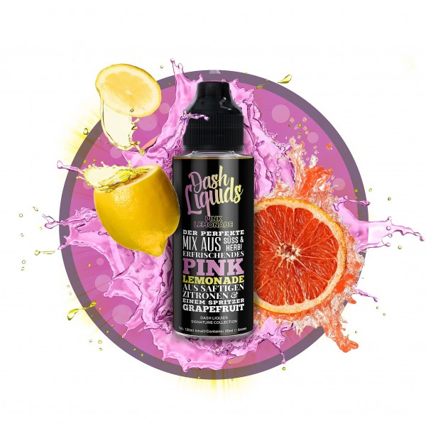 Pink Lemonade - Dash Liquids Signature Collection- 25ml Aroma in 120ml Flasche