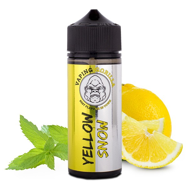 Yellow Snow - Vaping Gorilla - 10ml Aroma in 120ml Flasche