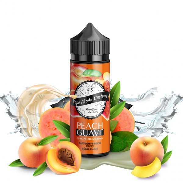 Peach Guava - Vape Modz Customs - 30ml Aroma in 120ml Flasche
