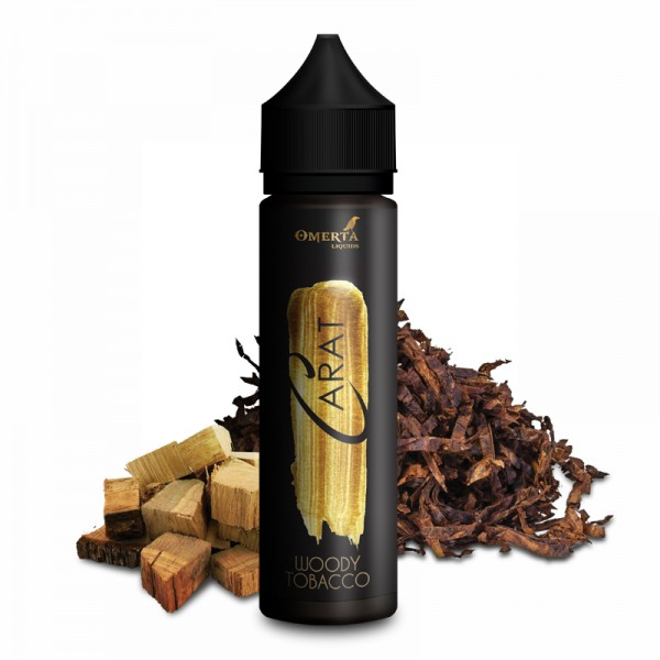 Woody Tobacco - Carat Serie - Omerta Liquids - 20ml Aroma in 60ml Flasche