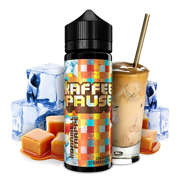 Karamell Frappé Ice - Kaffeepause by Steamshot - 20ml Aroma in 120ml Flasche