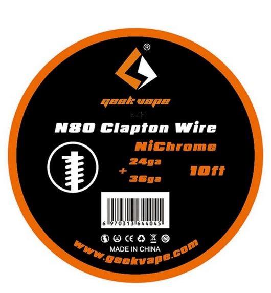 Geekvape Wickeldraht Clapton Ni80 auf Spule - 10ft