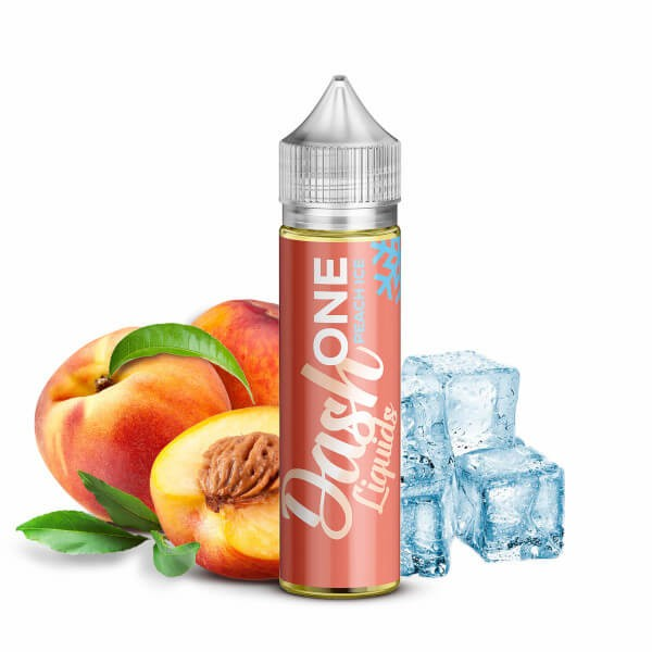 ONE Peach Ice - Dash Liquids - 15ml Aroma in 60ml Flasche