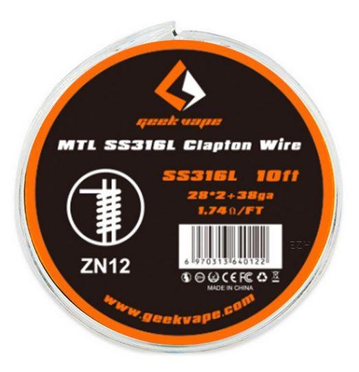 Geekvape Wickeldraht MTL Clapton SS316L auf Spule - 10ft