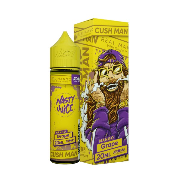 Mango Grape - Cush Man Series - Nasty Juice - 20ml Aroma in 60ml Flasche